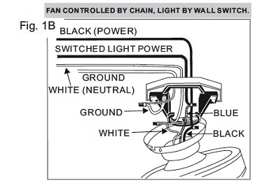 Harbor Breeze Ceiling Fan Installation Manual: Harbor Breeze Baja Ceiling Fan Parts Home Design Ideas -> Source. Wiring  Step 1b,Lighting