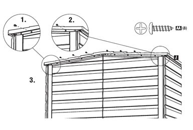 Rubbermaid 174 Small Storage Shed