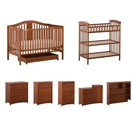 Stork Craft Chelsea 4 In 1 Stages Fixed Side Crib
